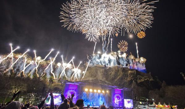 Hogmanay fireworks