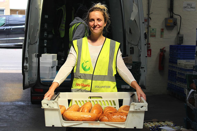 Katherine volunteering with Fareshare