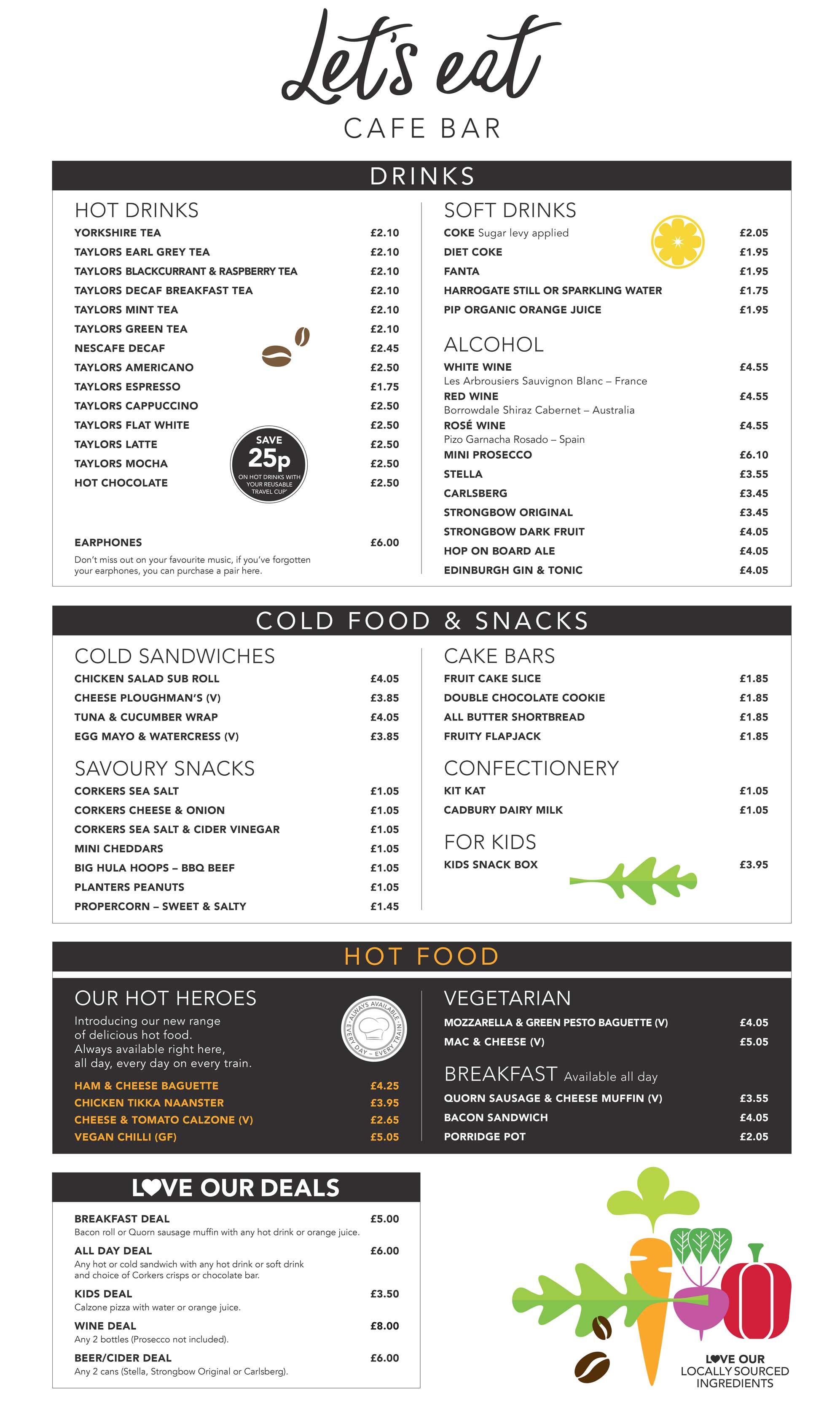 cafe bar menu