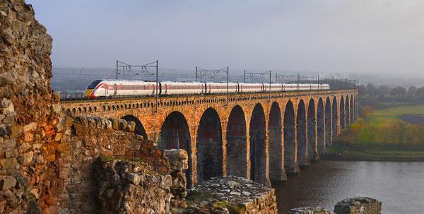 Azuma train near Berwick