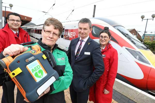 LNER defibrillator