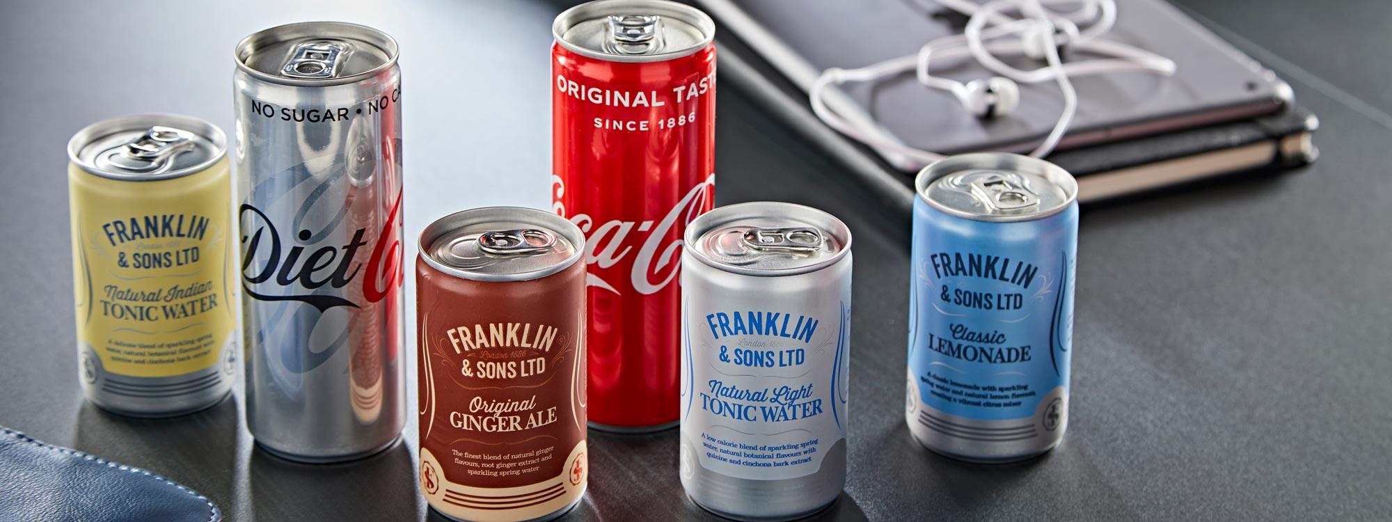Soft drinks LNER First Class Menu