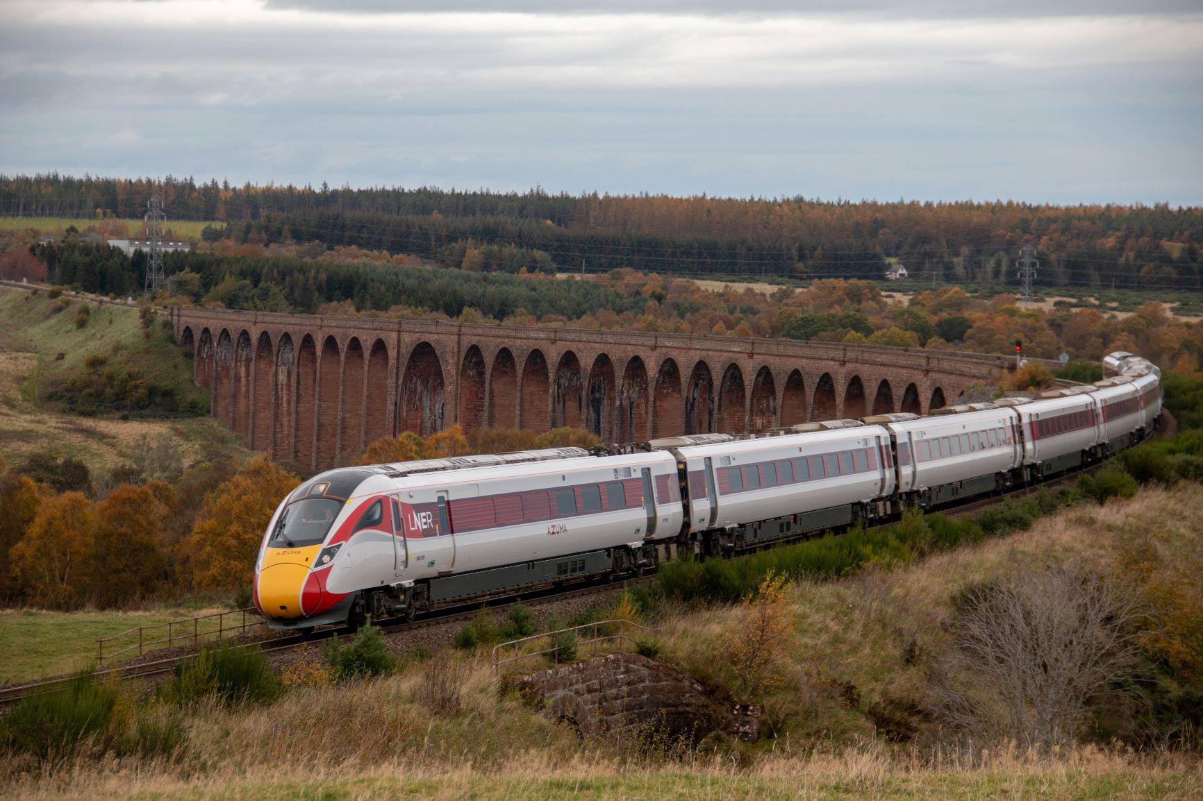 Azuma on Culloden Viaduct - Credit Graeme Elgar / LNER