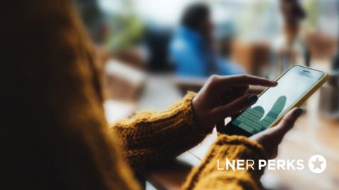 Customer accessing LNER Perks on their mobile phone