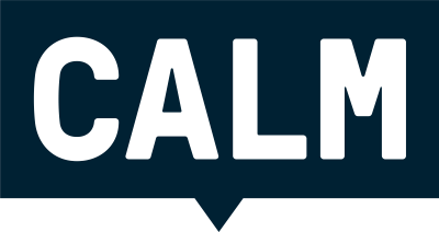 Logo for CALM, the campaign against living miserably