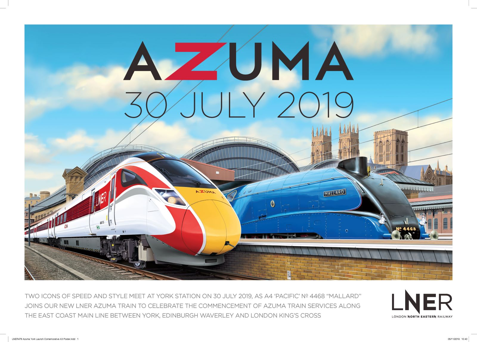LNER Releases Collector Series Of Azuma Launch Posters Celebrating Destinations