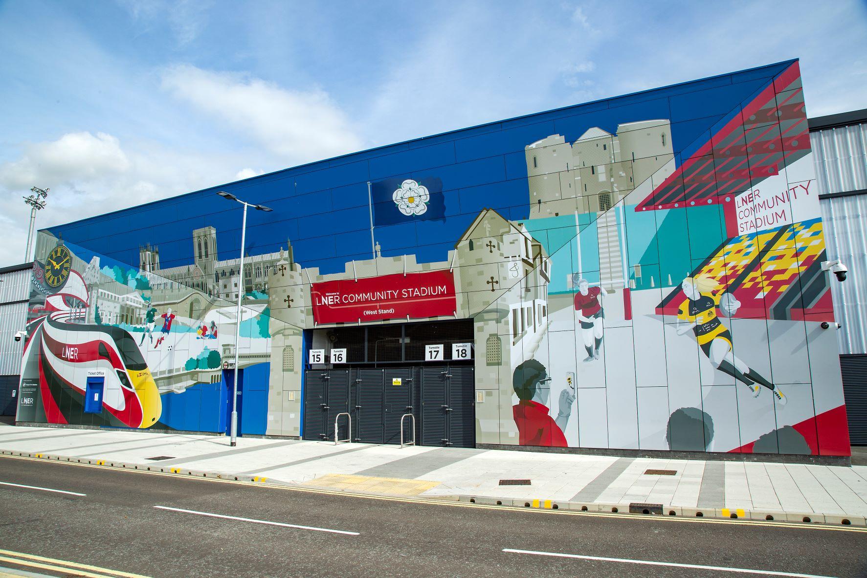 Mural Celebrating York City Unveiled At LNER Community Stadium
