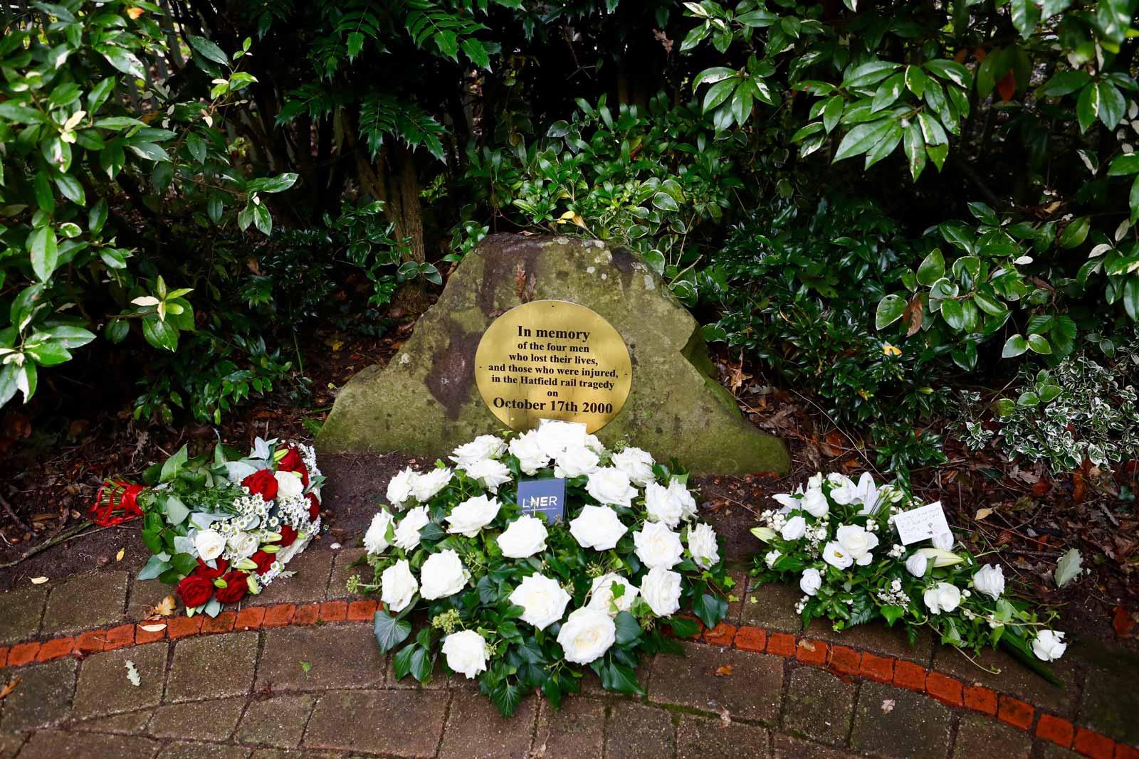 The Hatfield rail tragedy 21st anniversary memorial